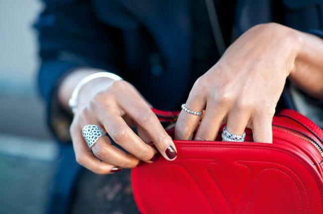 Valentino logo red bag