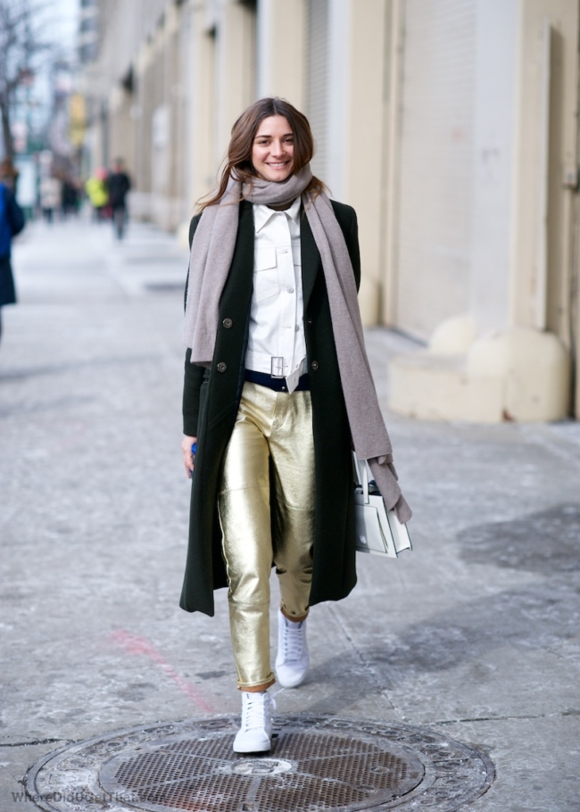 Veda gold leather pants
