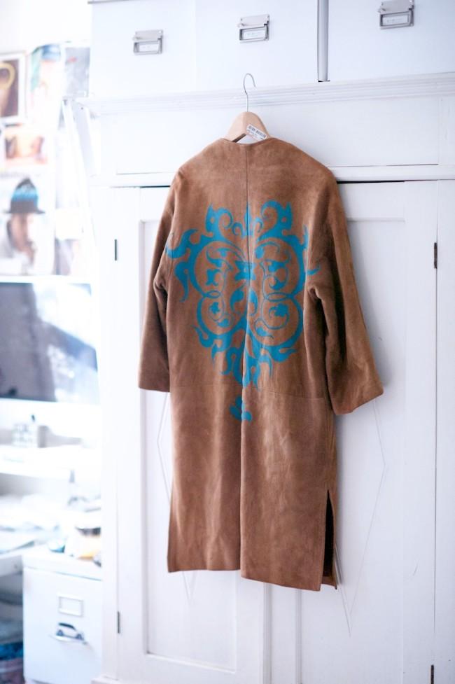tan suede coat
