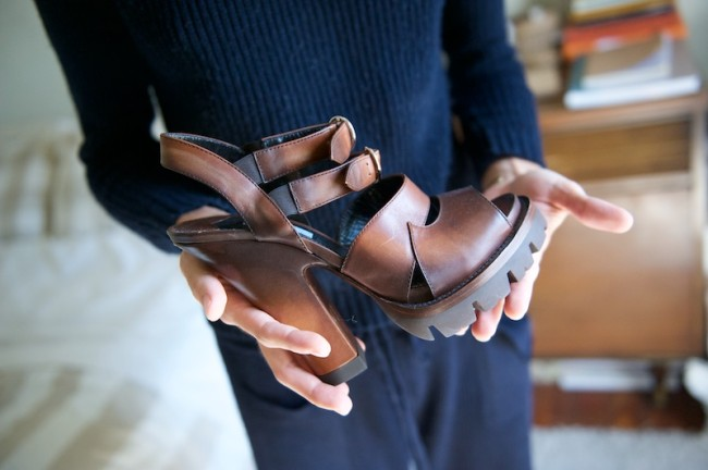 Prada lug sole heels