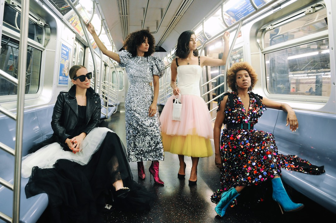 carolina Herrera sequin dress