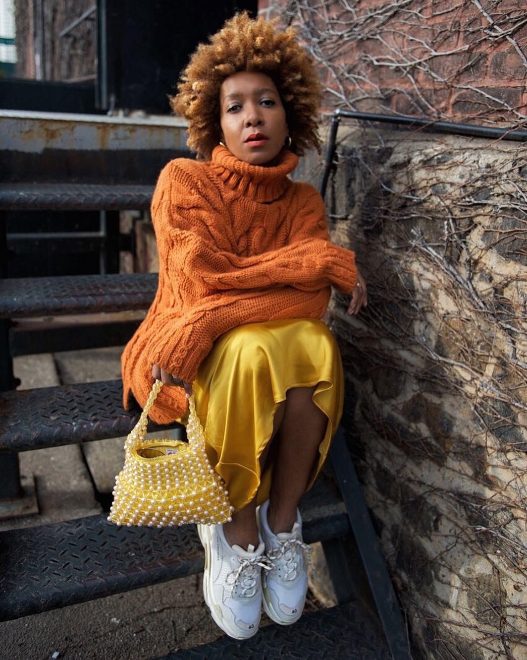 Orange and yellow street style