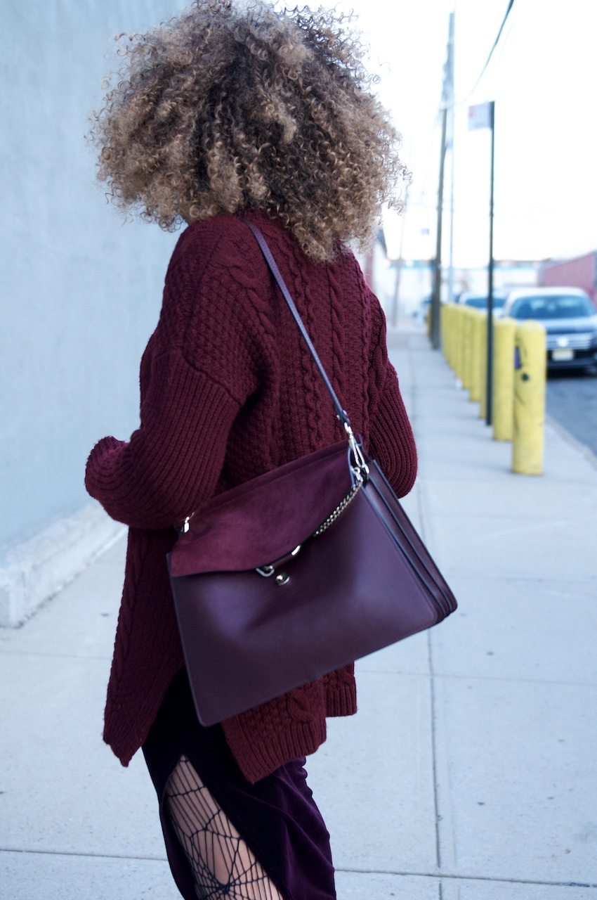 chloe faye bag in dark purple