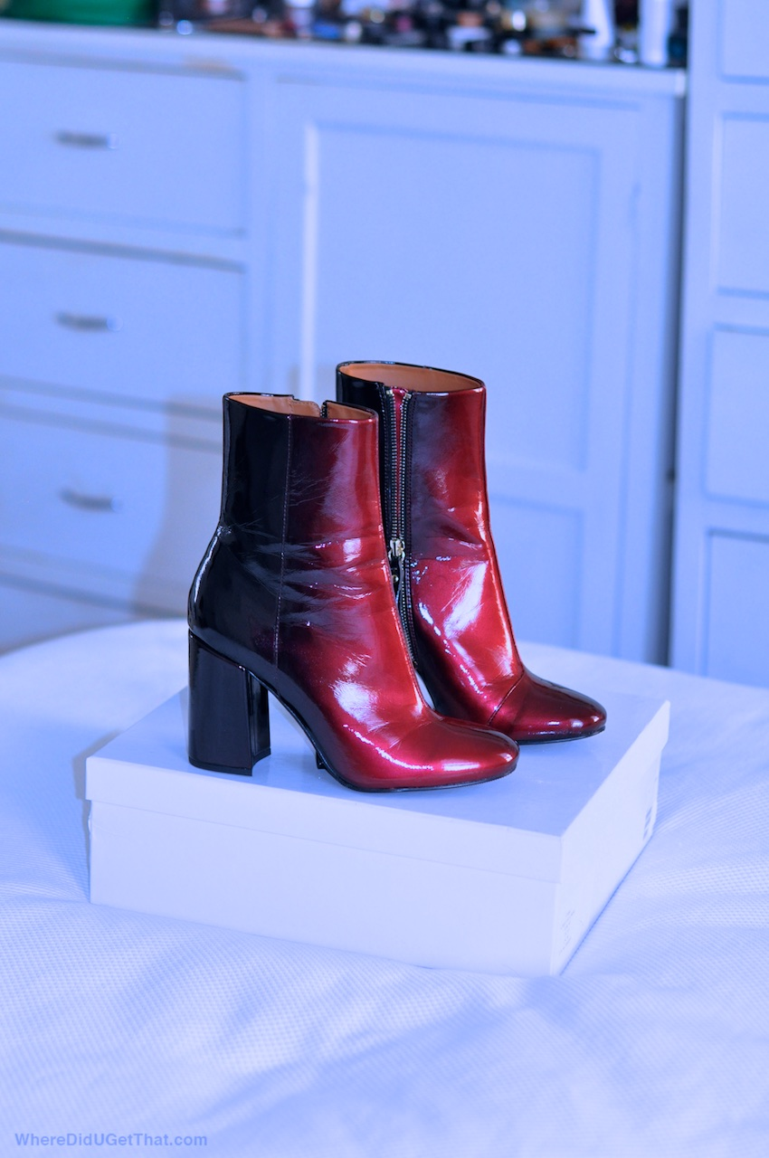 &otherstories glossy gradient boots