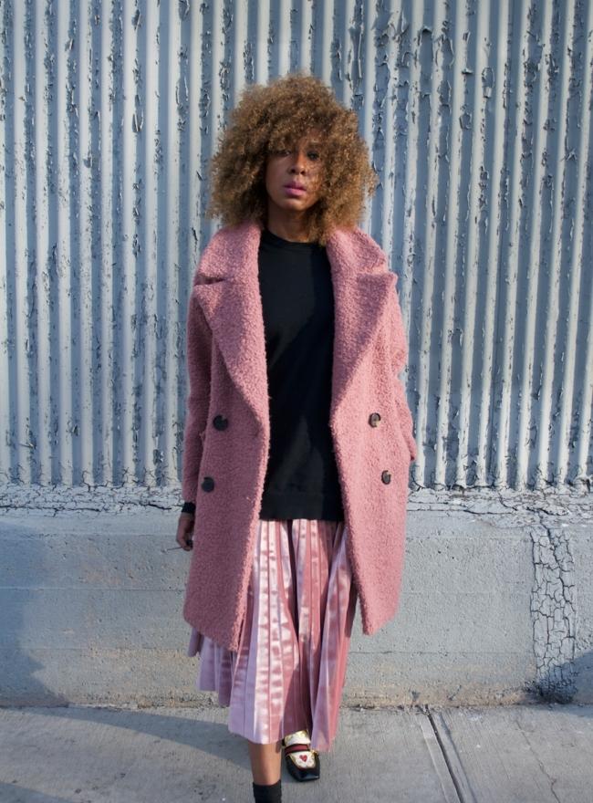 pink teddy coats
