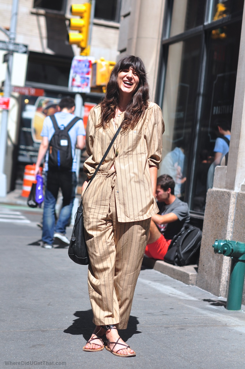 new york street style, isabel marant sandals