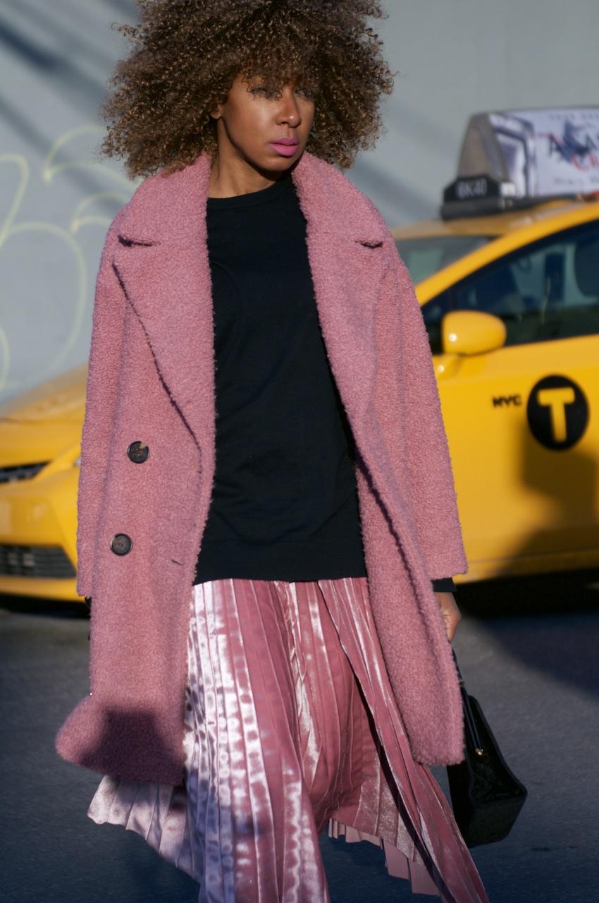 velvet pleated skirts