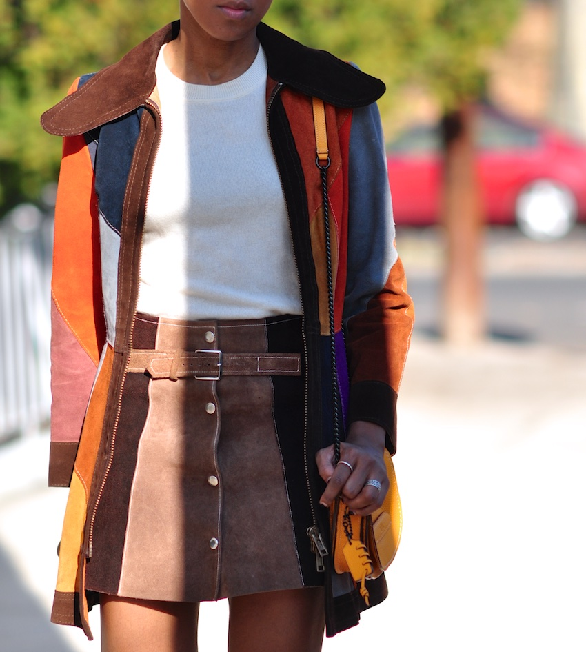 suede a line skirts