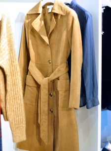 suede coat, vintage style trench coat, suede trench coat