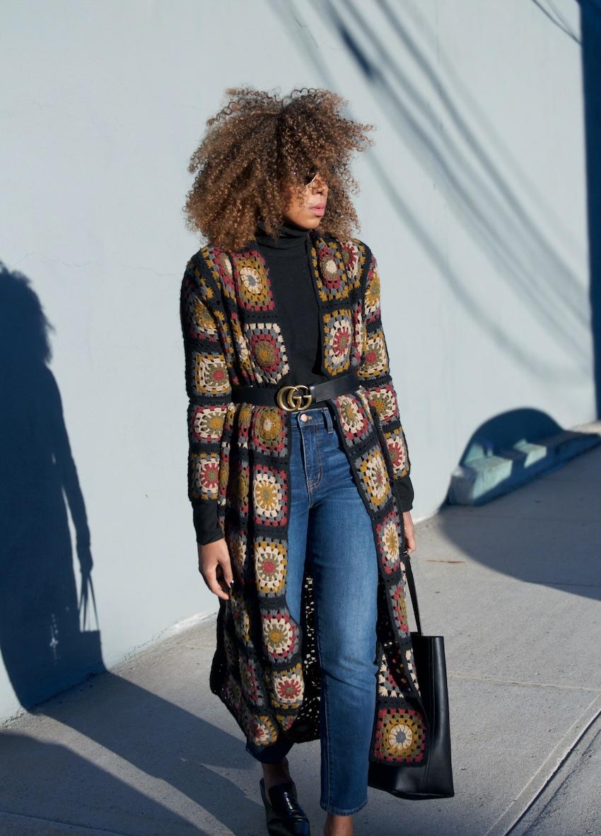 Gucci belt, crochet cardigan, high waist jeans, madewell jeans, madewell, madewell transport tote, fashion bloggers, ray ban aviators