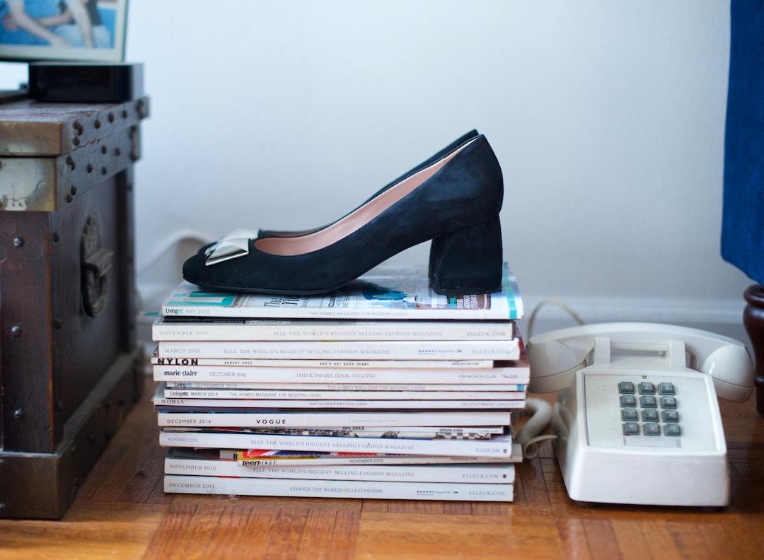 tayrn rose block heel shoes