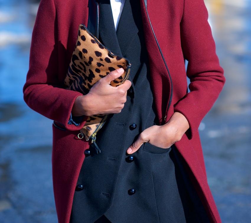 jerome dreyfuss leopard print bag