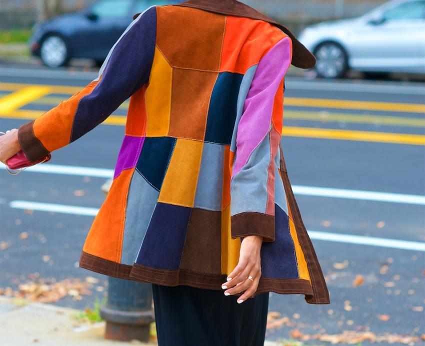 seventies suede coat