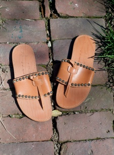 Studded leather sandals
