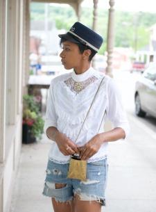 miltary hat, metal purse, metal bag