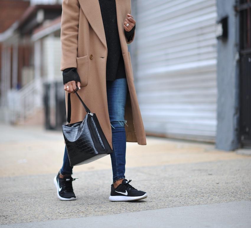 Zara croc bucket bag