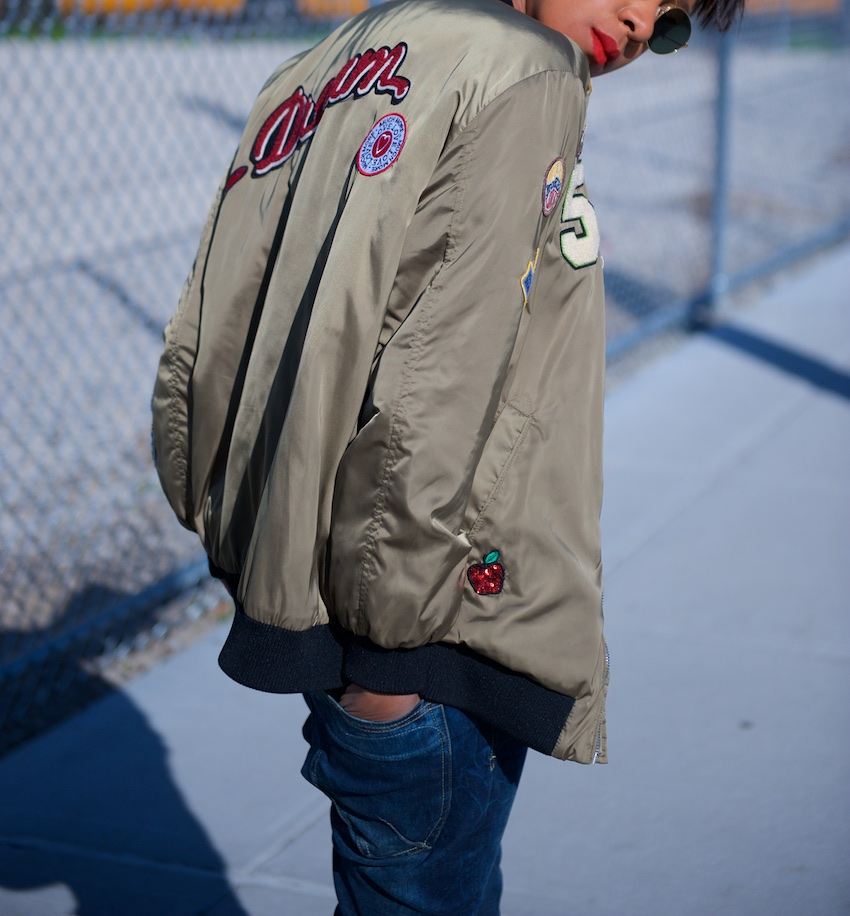 patchwork bomber jackets