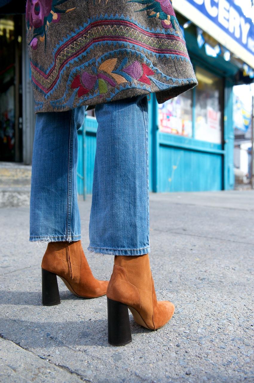 zara suede block heel boots