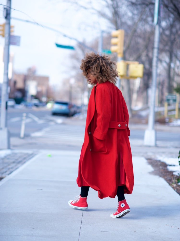 long red wool coat