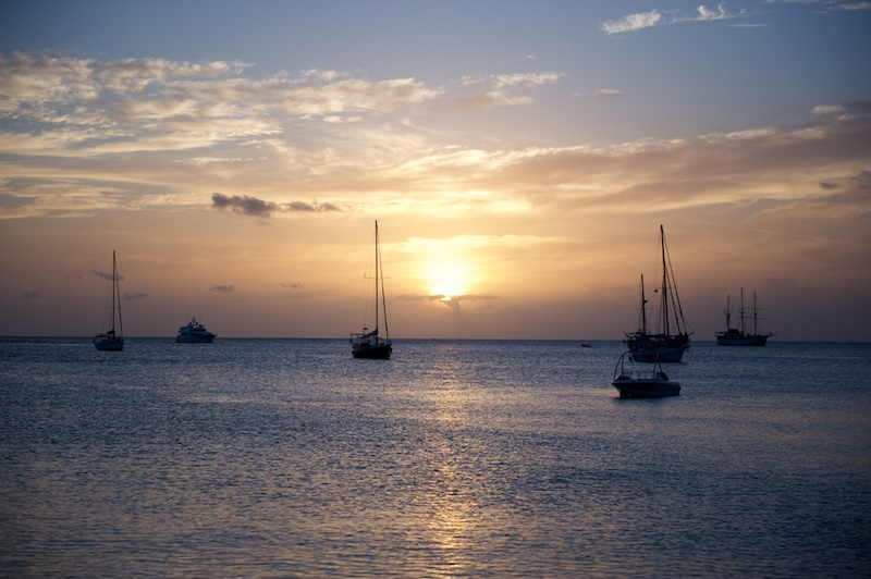 caribbean beaches, st. lucia, sunset photos