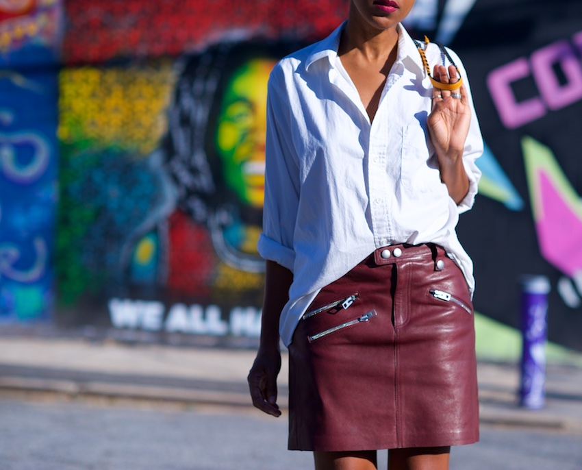 leather skirts