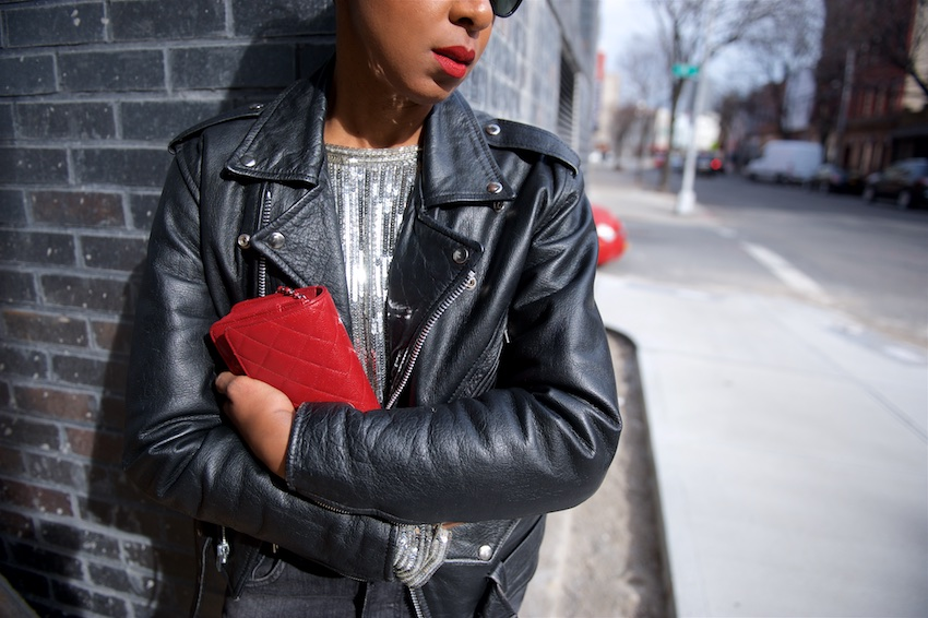 Black vintage leather jackets