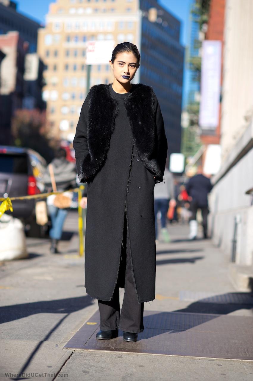 monki black coat