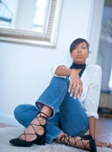 lace up block heels