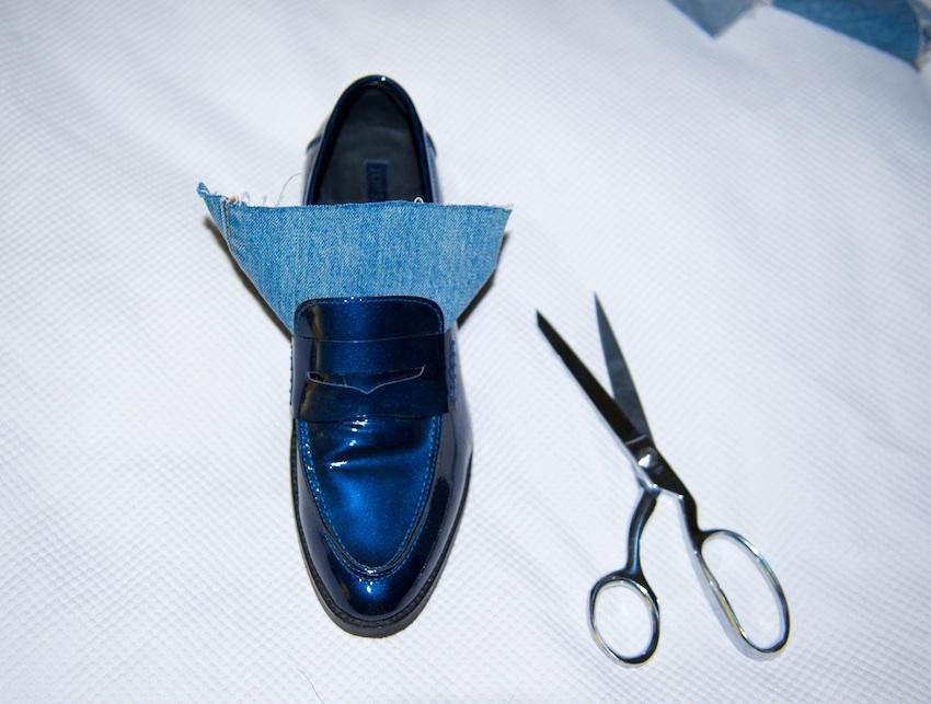 DIY fur shoes