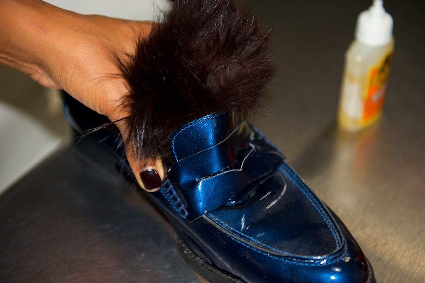 furry loafer shoes