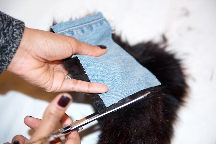 DIY fur loafers
