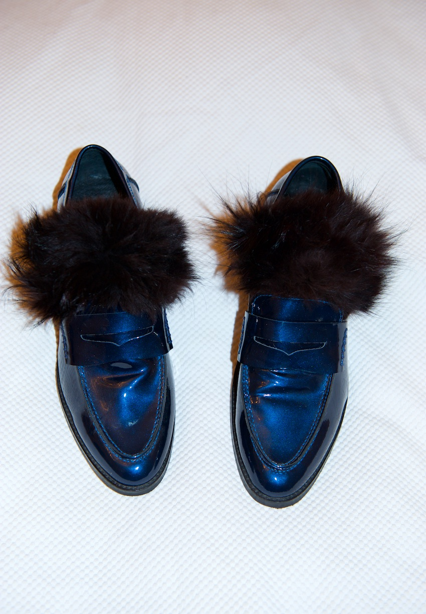 DIY gucci fur loafer