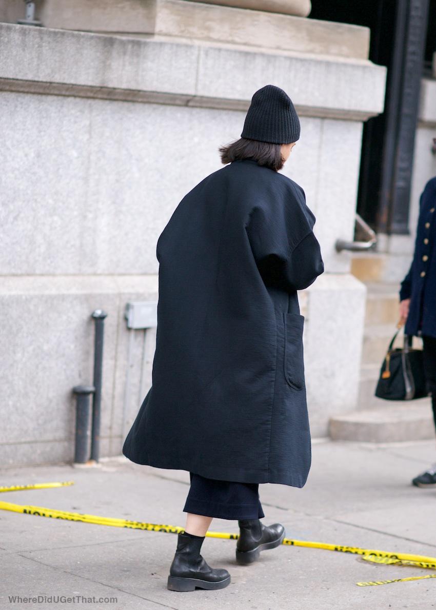 oversized black coats