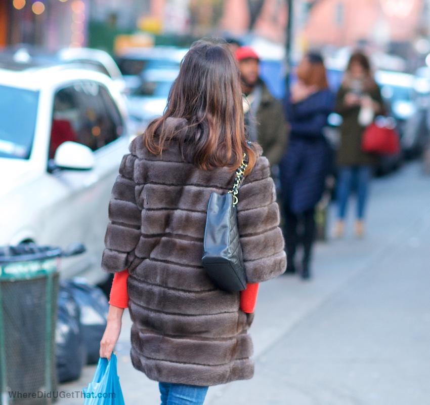 brown fur coats