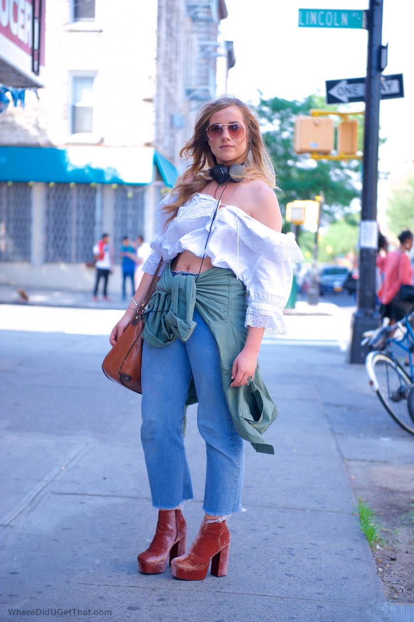 off the shoulder white tops