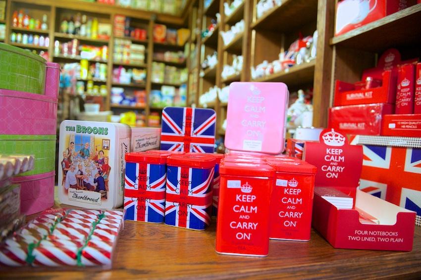 tea and sympathy, keep calm and carry on tin