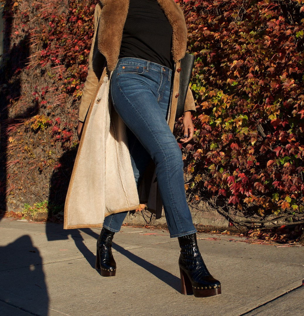 how to style platform boots