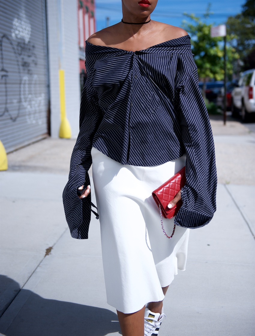 Karen Blanchard shows you to wear off the shoulder shirts in four ways