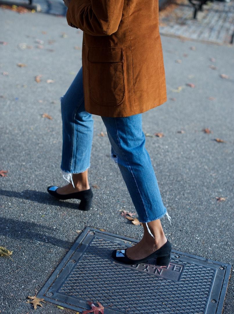 suede block heel shoes