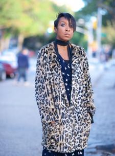 Topshop leopard print coat