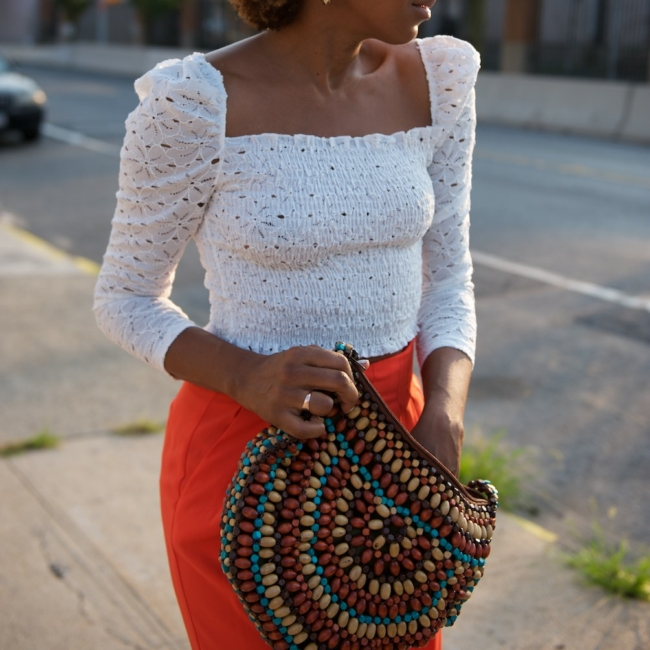 topshop puff sleeve blouse