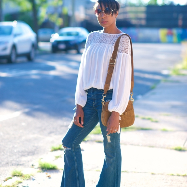 Seven flared jeans