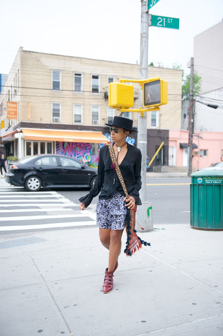 Modern Vice boots, red ankle boots, new york fashion bloggers, ray ban aviators