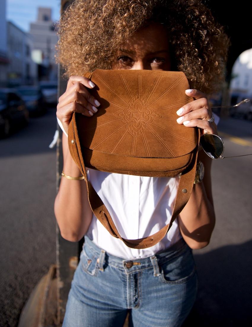 suede vintage bags