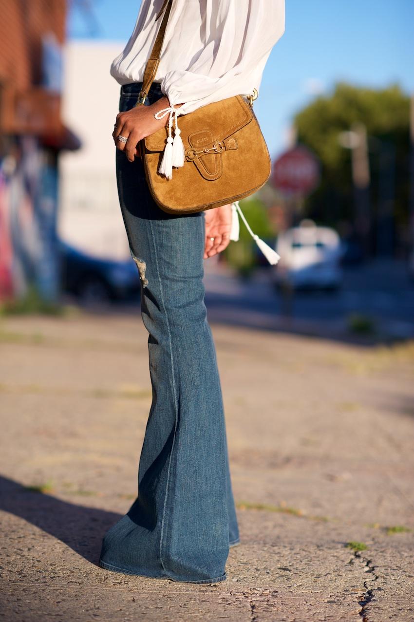 Seven bell bottom jeans