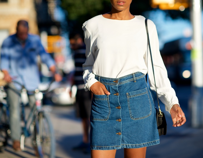 Aline denim skirts