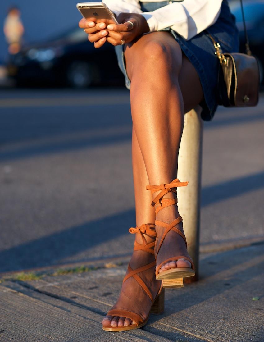 Topshop Nomad tie sandals