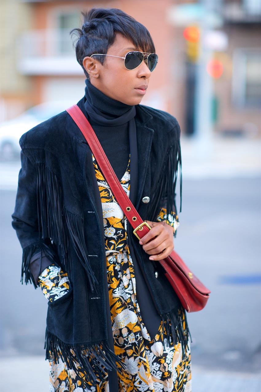 Suede fringe jackets