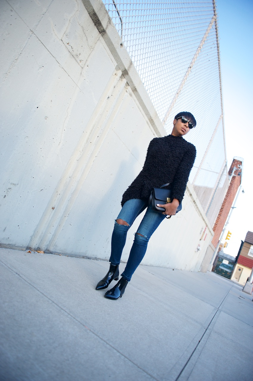 patent leather chelsea boots
