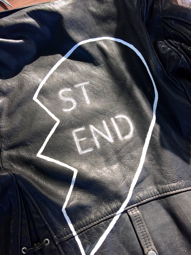 DIY leather jacket